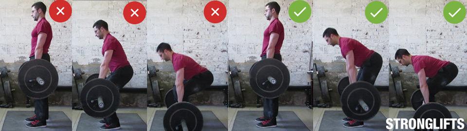 Становая тяга —техника упражнения. Движение вниз.