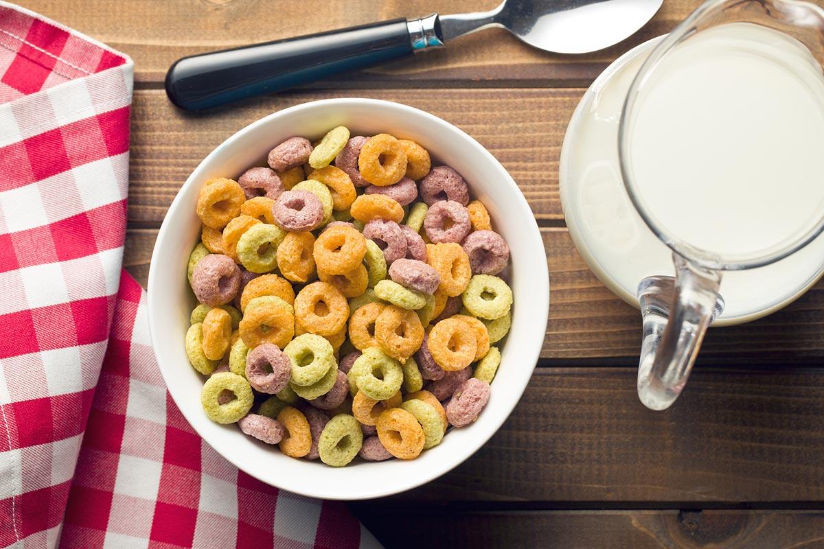 Кукурузные хлопья на завтрак