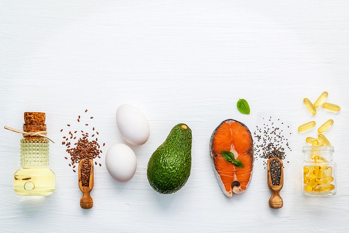 Семена чиа и другие продукты с Омега-3 жирами